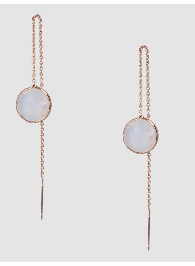 Earrings white serenity