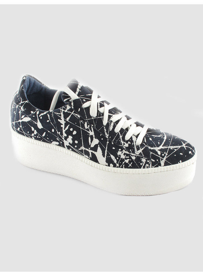 Trainers seal denim panther leather