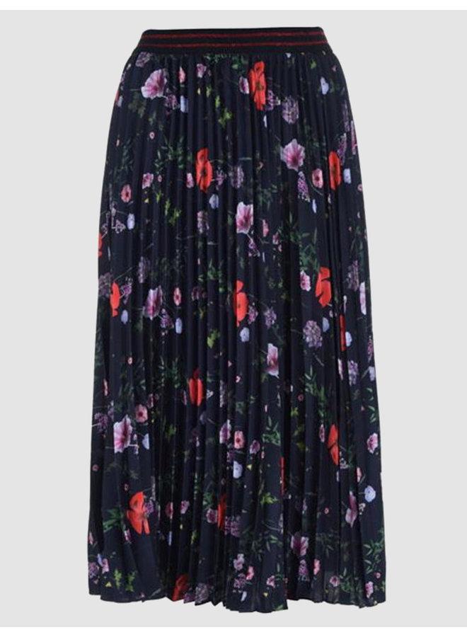 Skirt luish hedgerow pleated midi dark blue
