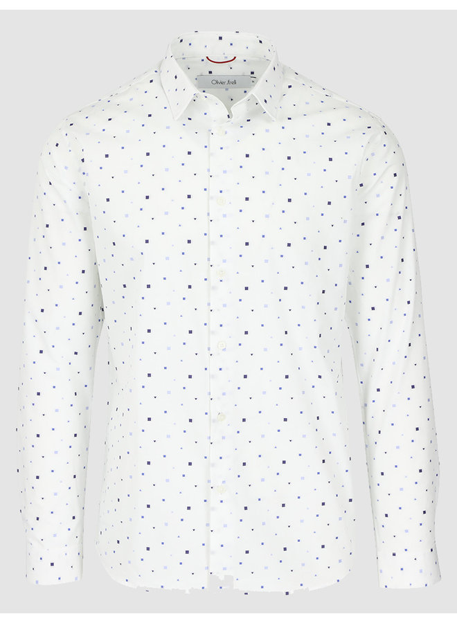 Shirt regular fit white black graphic print salvador missouri