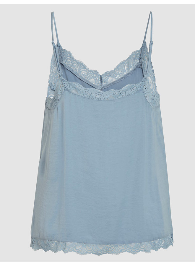 Top vicava lace singlet oil blue