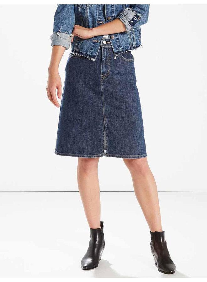 Skirt a-line midi everything is indigo