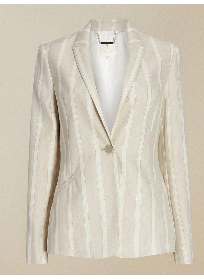 Linen Suit Jacket ivory