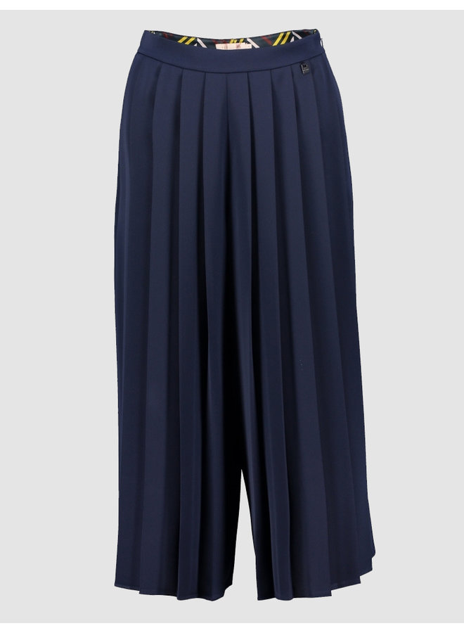 FRONT PLEATED CULOTTE navy