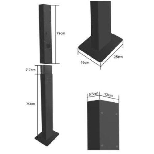 Besen Standing pole for wallbox