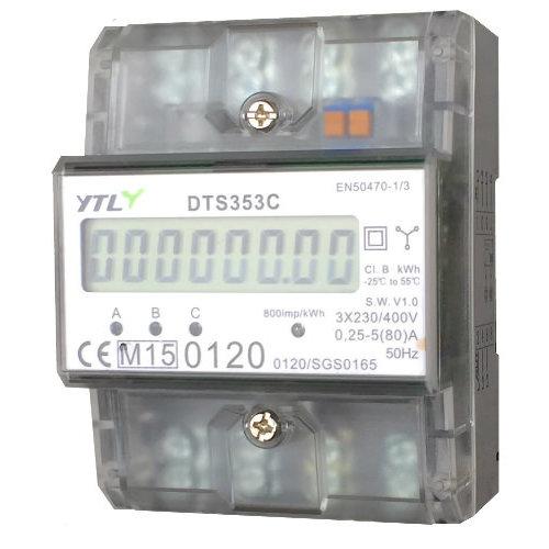 3 phase 80a digital kwh meter MID certified