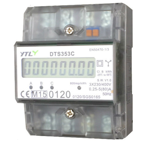 Digital kWh Meter 3 Phasen 80A   MID