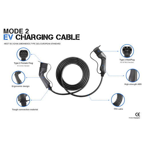 Besen Besen charging cable | 7.4 kW | 1x32A | type 2 to type 2 | 5 meter