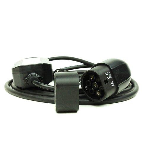 Eccoter Mobile EV charger   type 2 to schuko plug   16A   5 meter