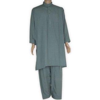 Salwar Kameez Men - Green Grey