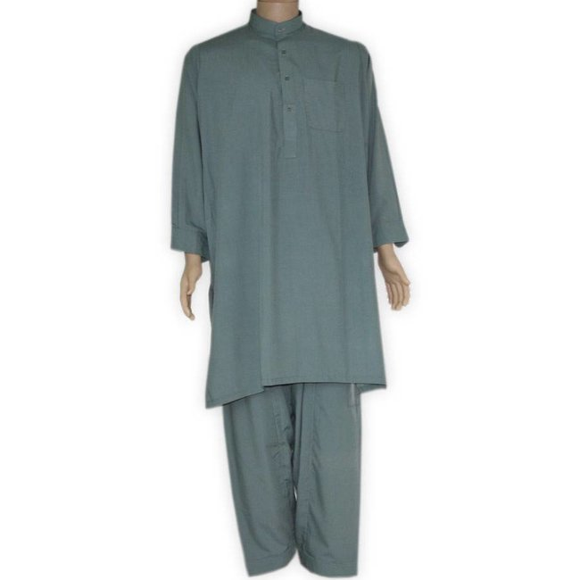 Salwar Kameez Men - Green Grey