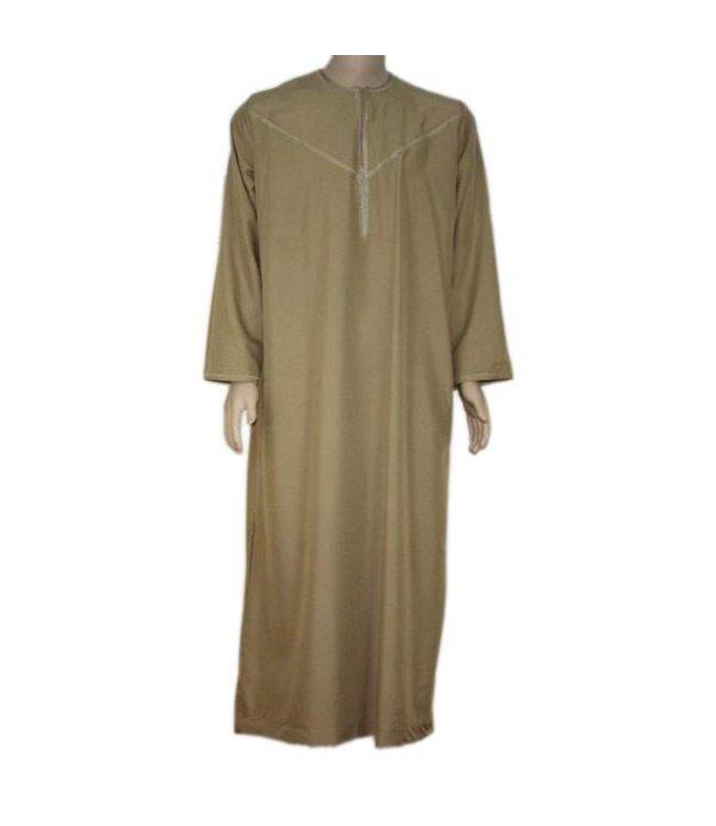 Arabischer Anzug mit Stickerei - Braun