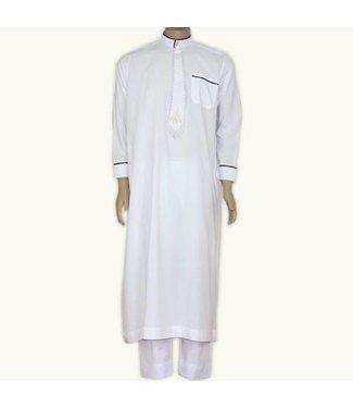 Arab Galabiyah with pants - White