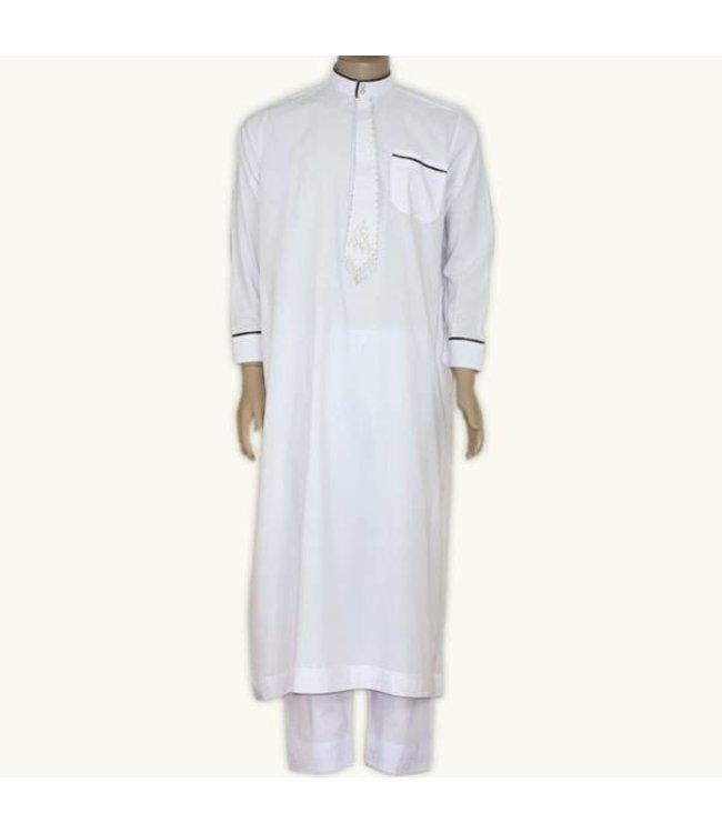 Arab Galabiyah with matching pants in White
