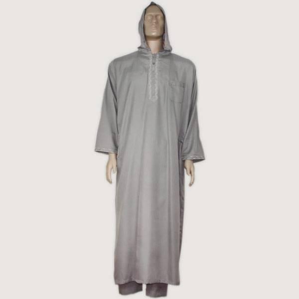 Arabischer Kaftan Djellaba Orientalische Hellgrau Kleidung