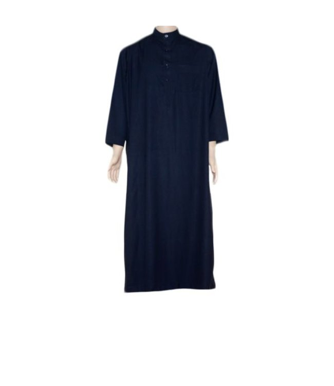 Arabischer Anzug m. Stehkragen - Dunkelblau