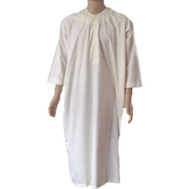 Arabischer Anzug m. Rundkragen - Creme
