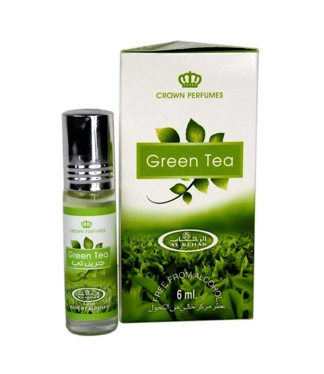 Al Rehab  Perfume Oil Green Tea by Al Rehab 6ml - Alcohol-Free perfume