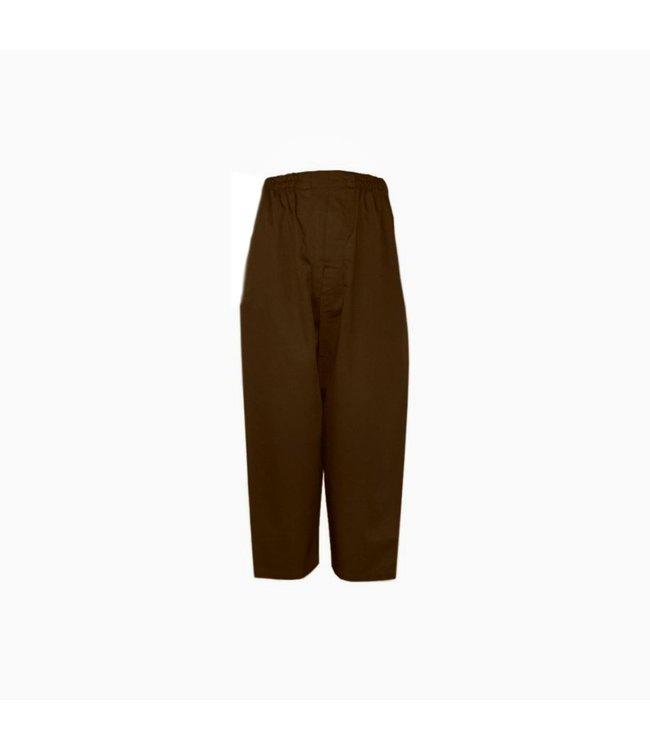 Comfortable and loose-fitting Islamic Sunnah pants in dark brown
