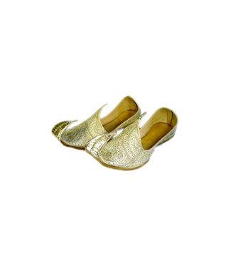Indische Khussa Schuhe Schnabelschuhe in Gold