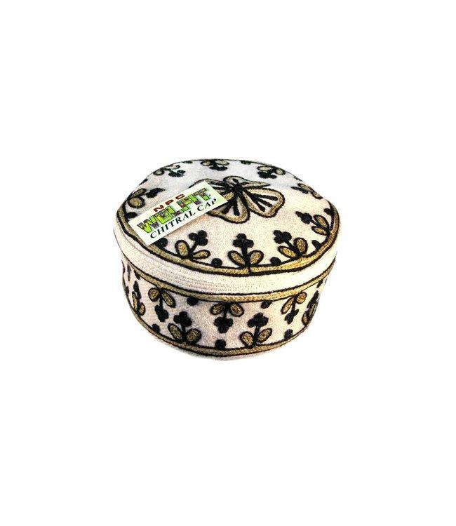 Chatrali Mütze mit Stickerei / Gr. M/L(54/56)