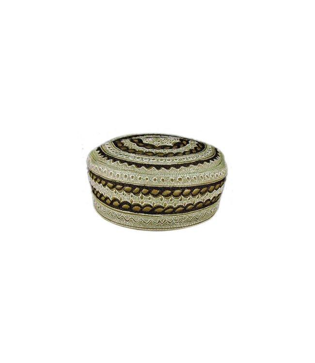Panjabi Mütze mit Stickerei / Gr. S(52)