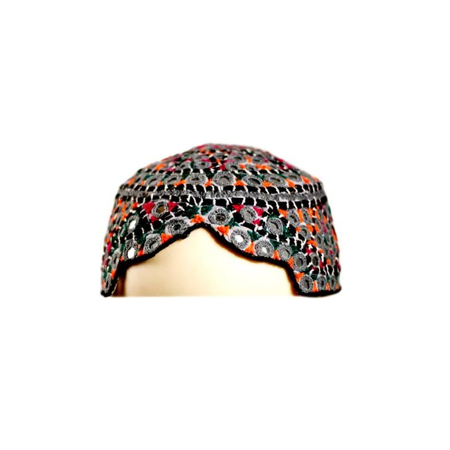 Sindhi Mütze mit Stickerei / Gr. S