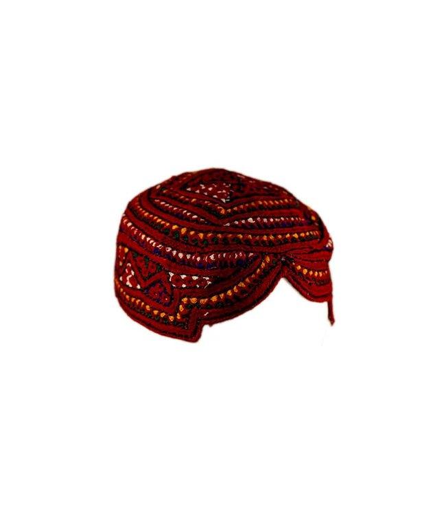 Bunte Sindhi Mütze mit Stickerei
