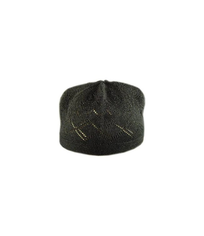 Black crocheted cap / one size
