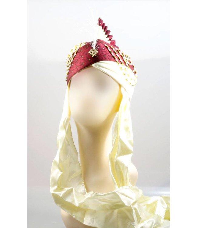 Indischer Hochzeits-Turban mit Feder