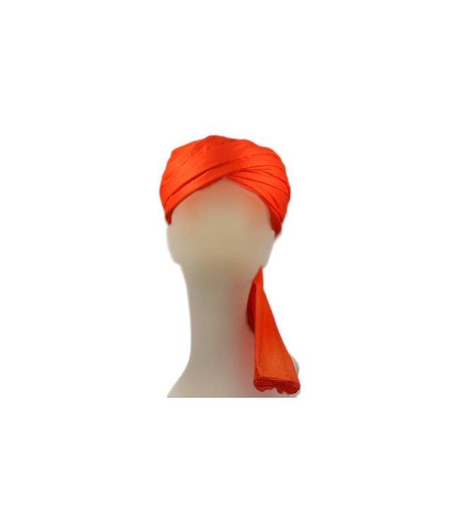 Turban-Tuch Imama in Orange zum Binden aus reiner Baumwolle