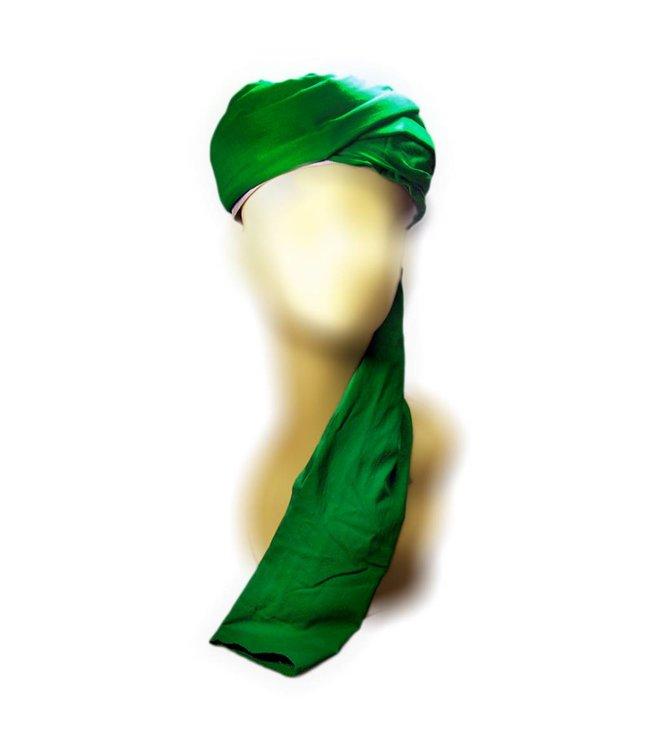 Turban-Tuch Imama in Grün zum Binden aus reiner Baumwolle