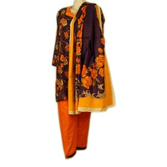 Salwar Kameez - Orange Roses