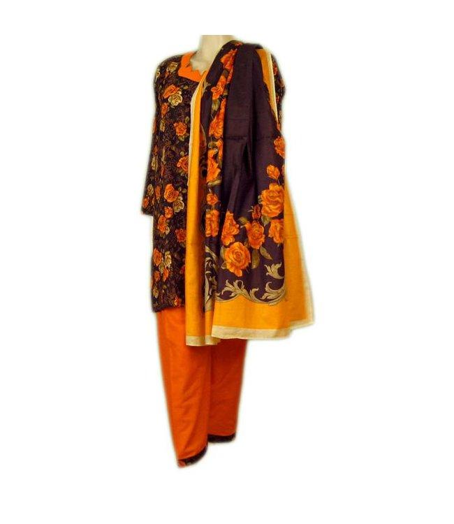 Salwar Kameez - Orange Roses