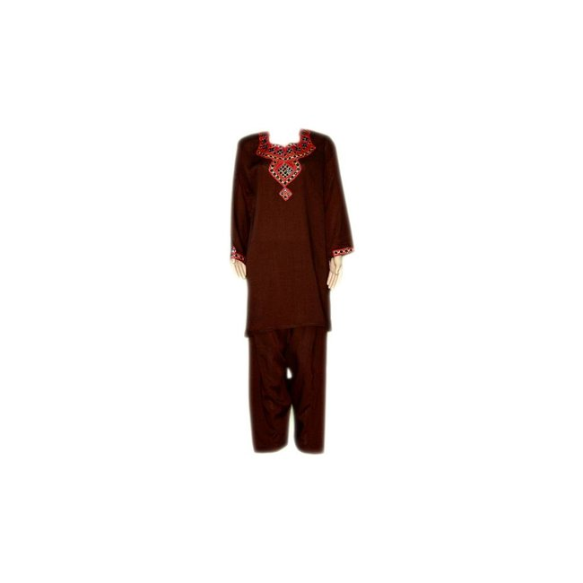 Salwar Kameez - Mirror Design Dark Brown