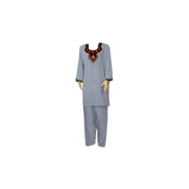 Salwar Kameez - Mirror Design Blue Grey