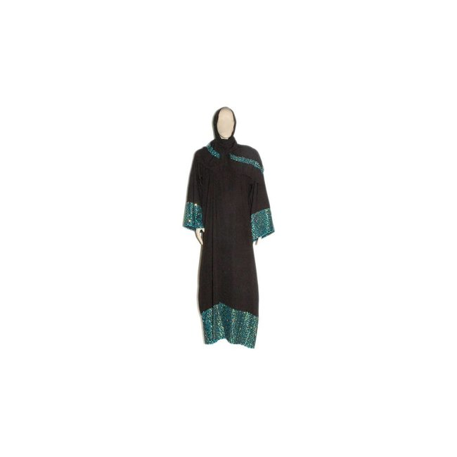 Noble Galabiya with embroidery - Turquoise