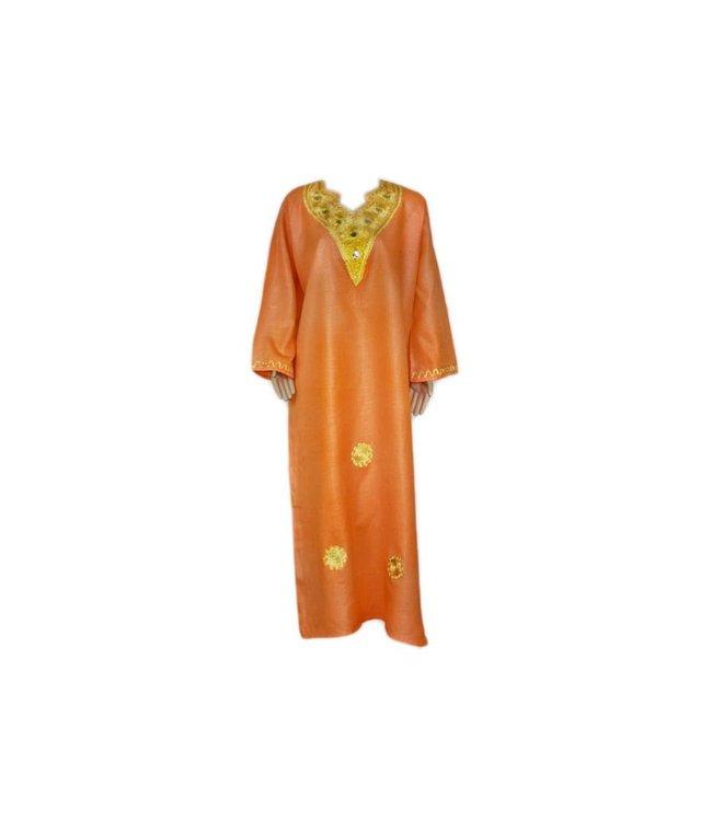 Arabisches Jilbab-Kleid für Damen Orange