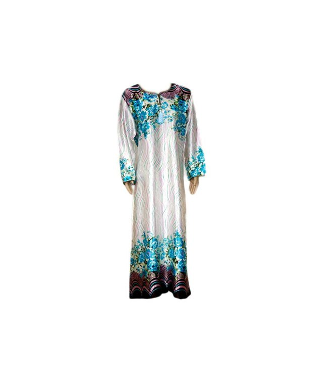 Djellaba Kaftan for Women in Turquoise