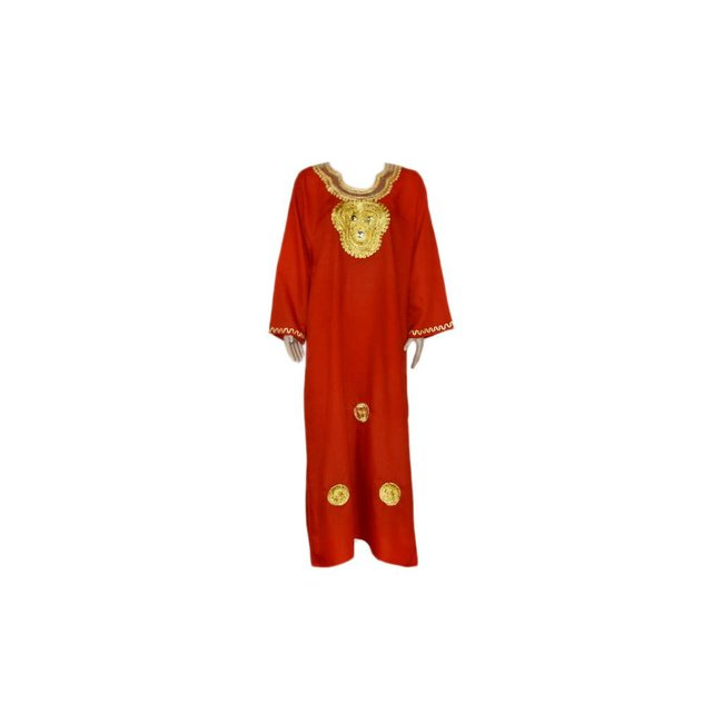 Roter Jilbab-Kaftan mit Goldstickerei