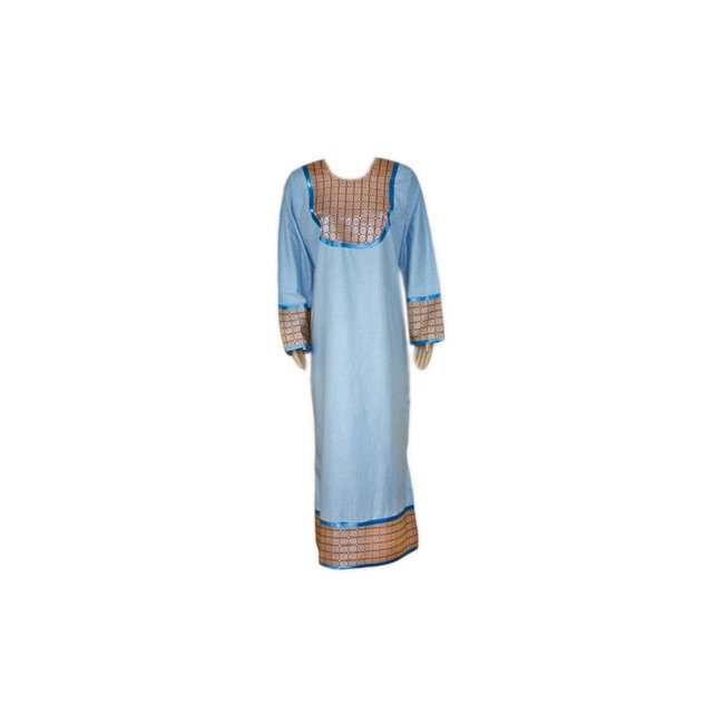 Kaftan with applications - Light Blue