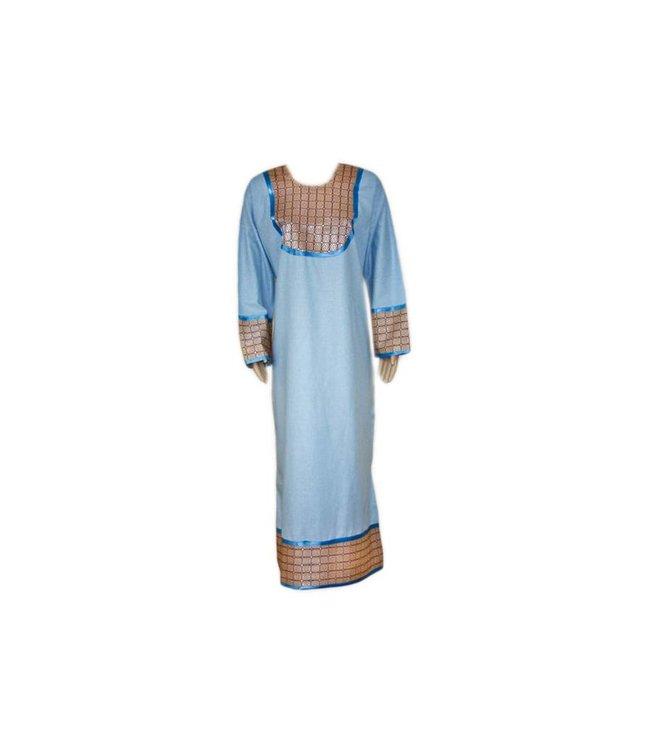 Jilbab Kaftan für Damen mit Applikationen - Hellblau