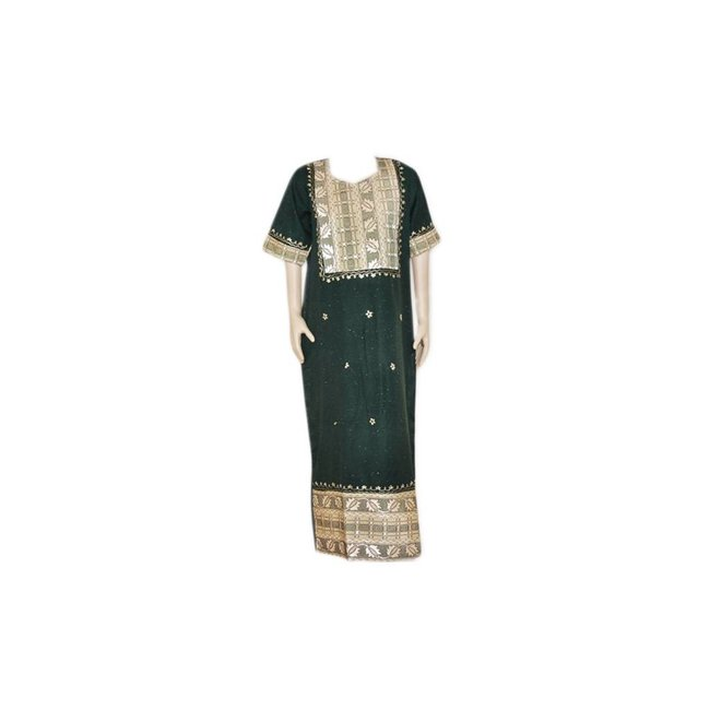 Kaftan with applications - Dark Green