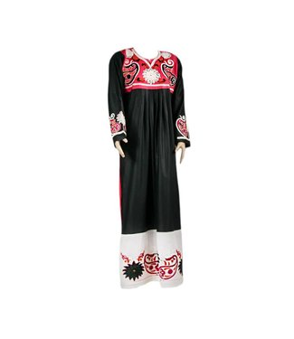 Embroidered Arab Caftan Jilbab - Duotone