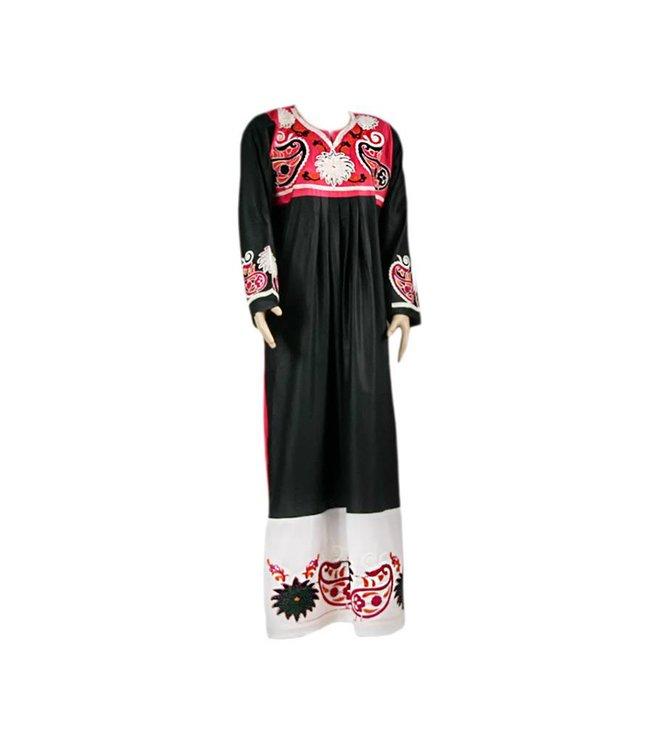 Bestickter arabischer Kaftan Jilbab - Zweifarbig