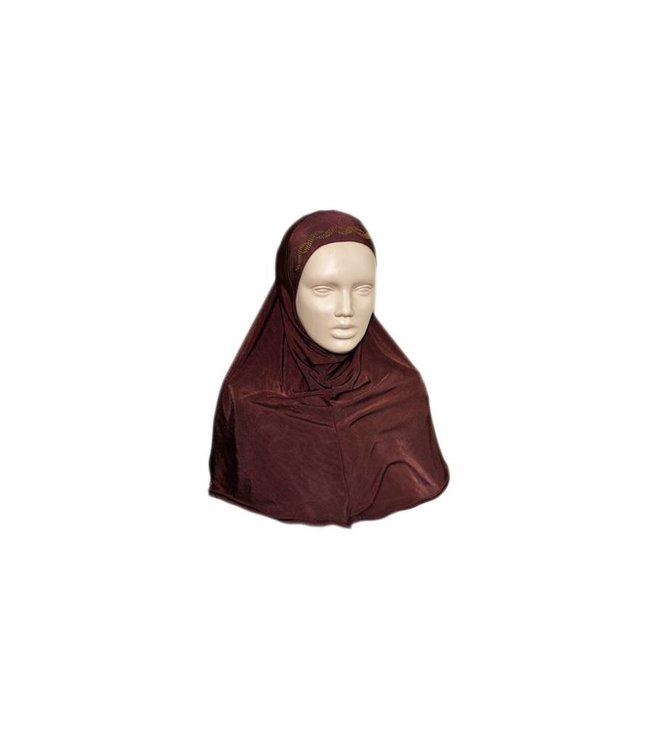 Amira hijab headscarf with rhinestones - Various colors