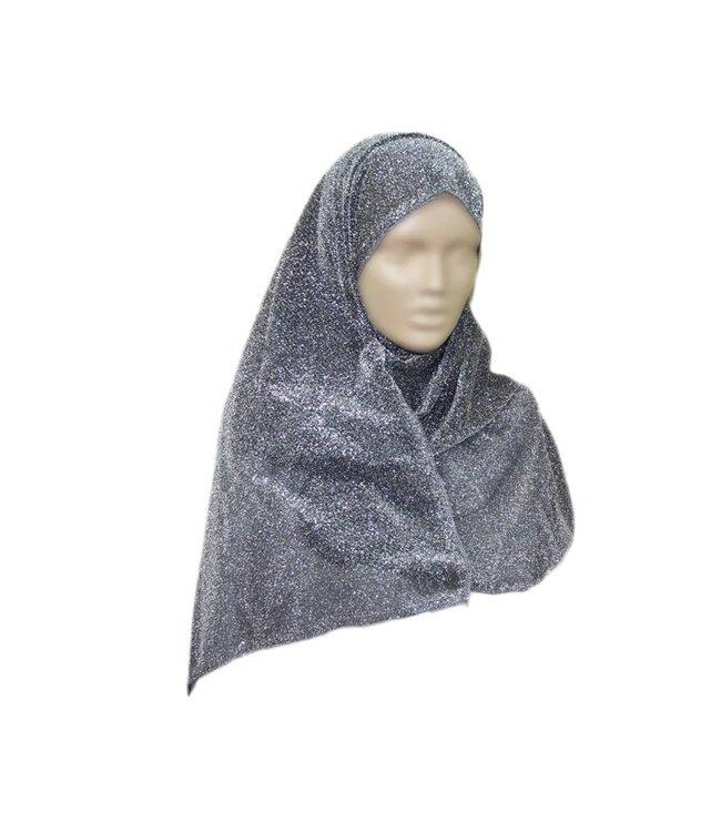 Eleganter Schal für Damen mit Glitzereffekt in Grau