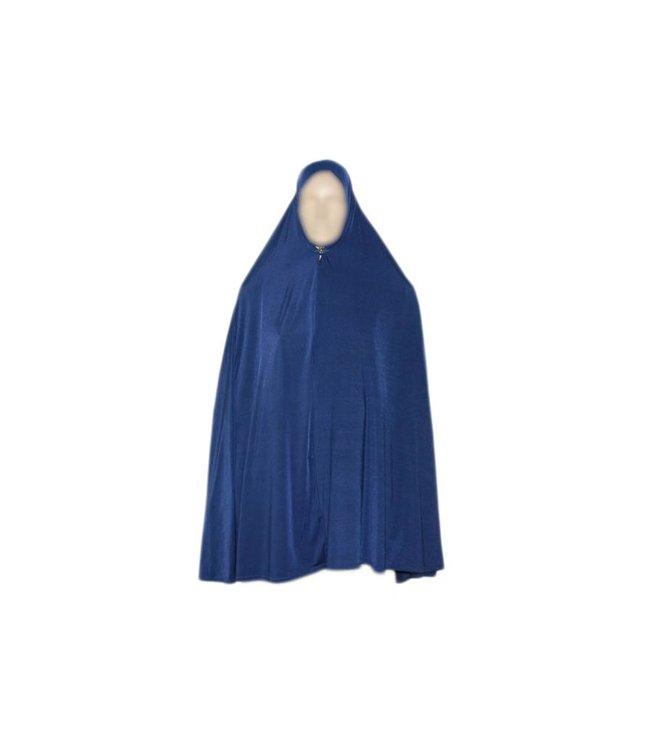 Großer Khimar Hijab in Blau - Elastisch