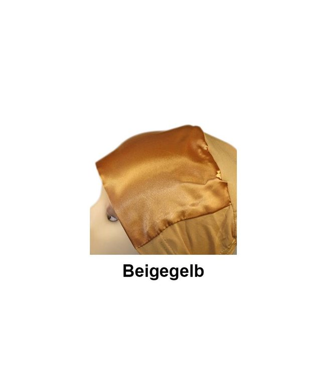 Under headscarf Bone with satin trim - Available in various colors