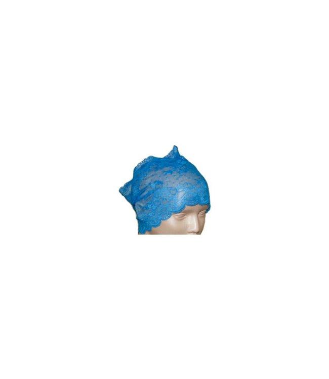 Unterkopftuch Bone aus Spitze - Blau